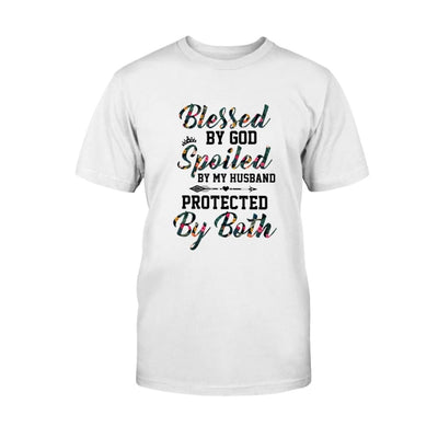 Protected by God And My Husband T-shirt Hoodie Sweater Gift