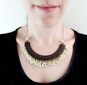 Collier pectoral en pierre naturelle - Nadia II - MercysFancy