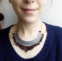 Collier pectoral en pierre naturelle - Nadia - MercysFancy