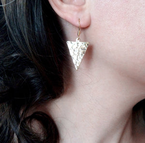 Boucles d'oreille en triangles inversés - Telma   Boucles d'oreille Mercy's Fancy