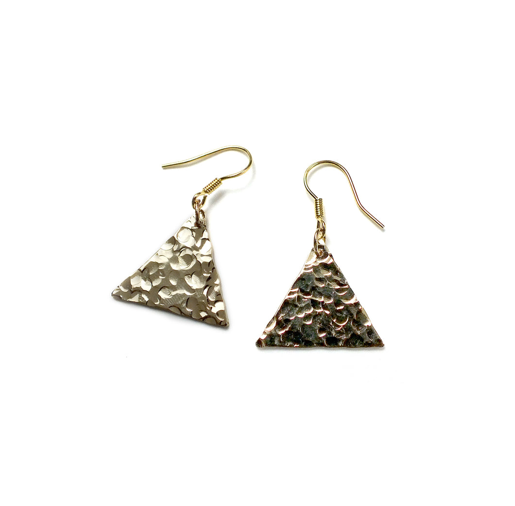 Boucles d'oreille en triangle - Tilda  Or jaune Boucles d'oreille Mercy's Fancy