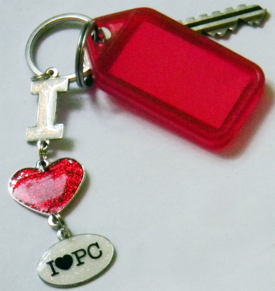 I Heart PC Keychain