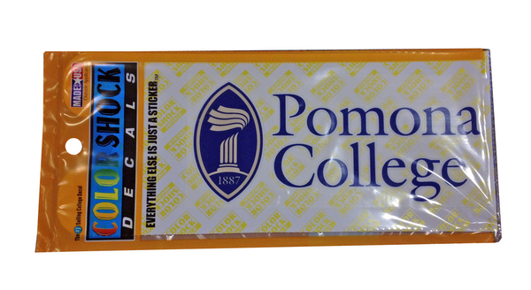 Stacked Seal Pomona College Decal