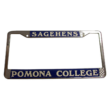 Chrome Sagehen License Frame