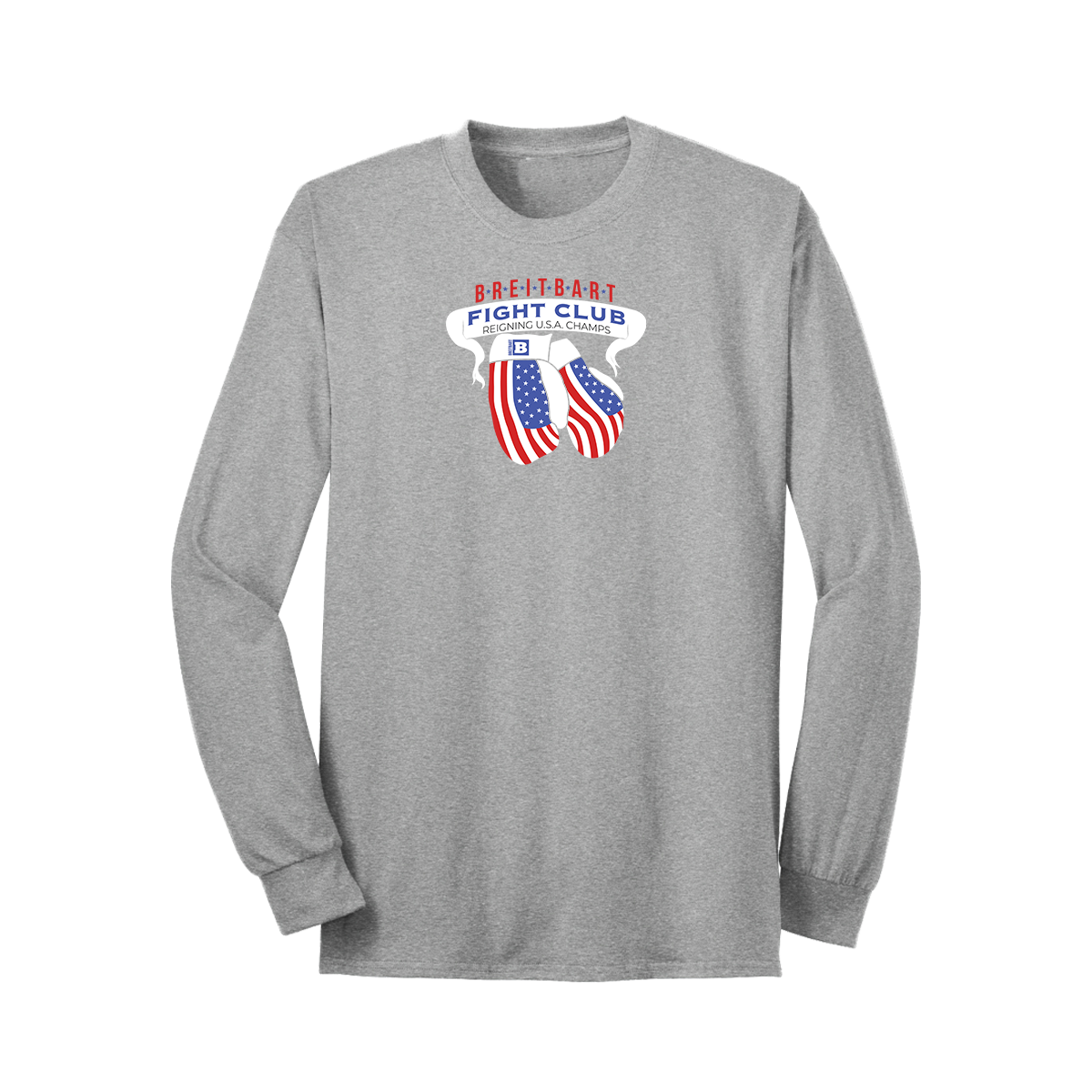 Breitbart Fight Club USA Champs Long Sleeve T-shirt - Grey