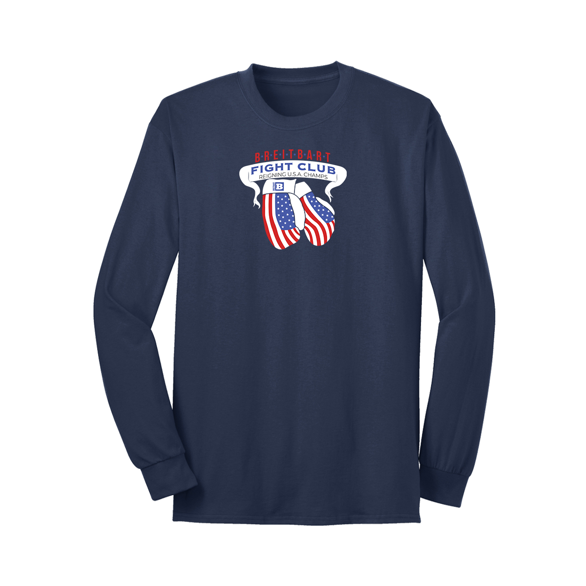 Breitbart Fight Club USA Champs Long Sleeve T-shirt - Navy