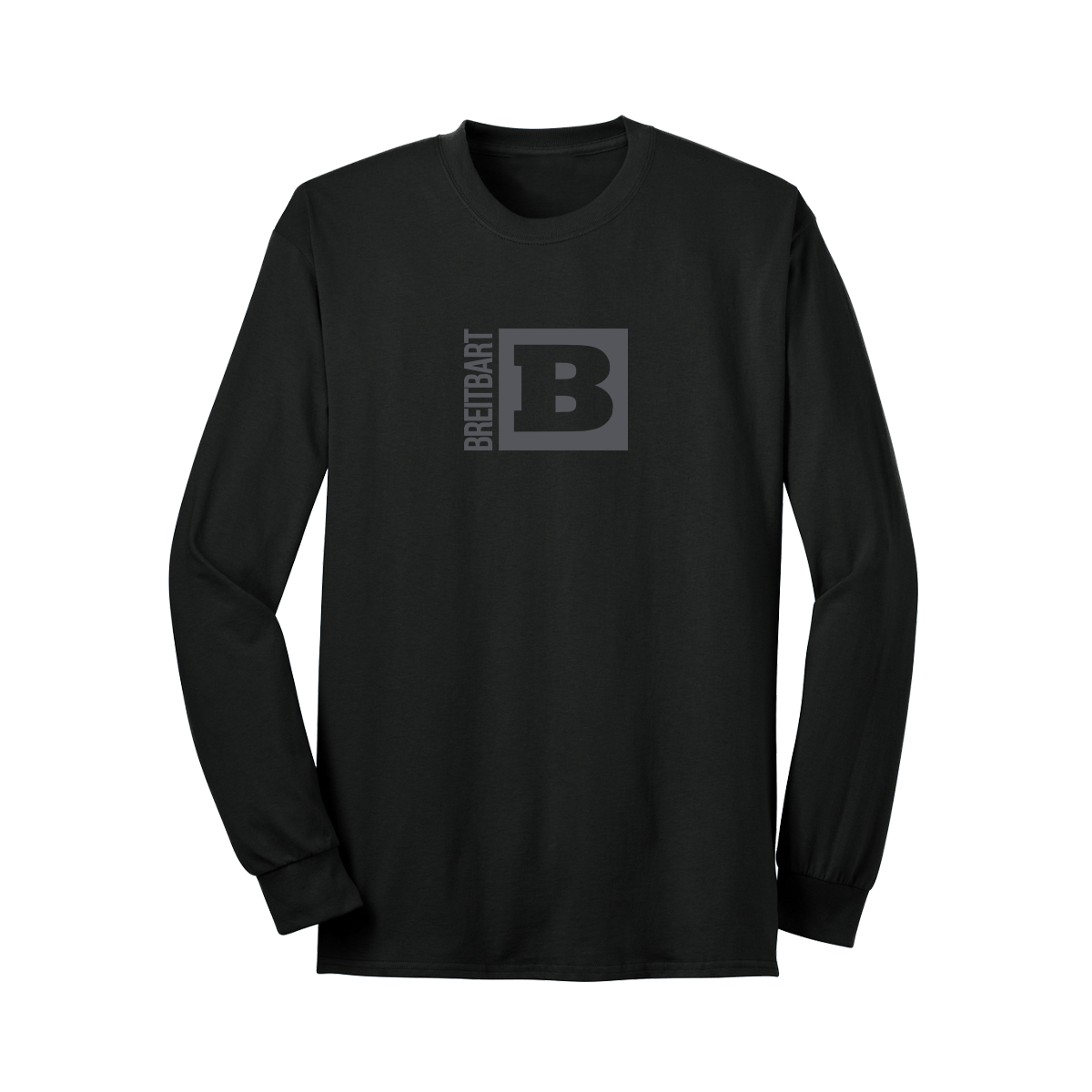Official Breitbart Logo Long Sleeve T-Shirt - Black