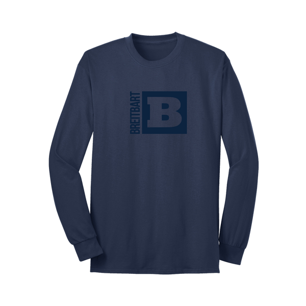 Official Breitbart Logo Long Sleeve T-Shirt - Navy