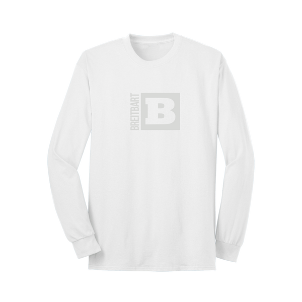 Official Breitbart Logo Long Sleeve T-Shirt - White