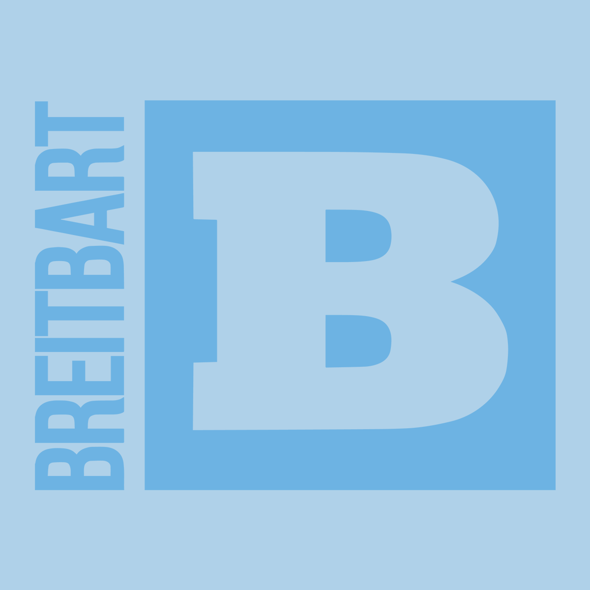 Official Breitbart Logo Women's T-Shirt - Light Blue