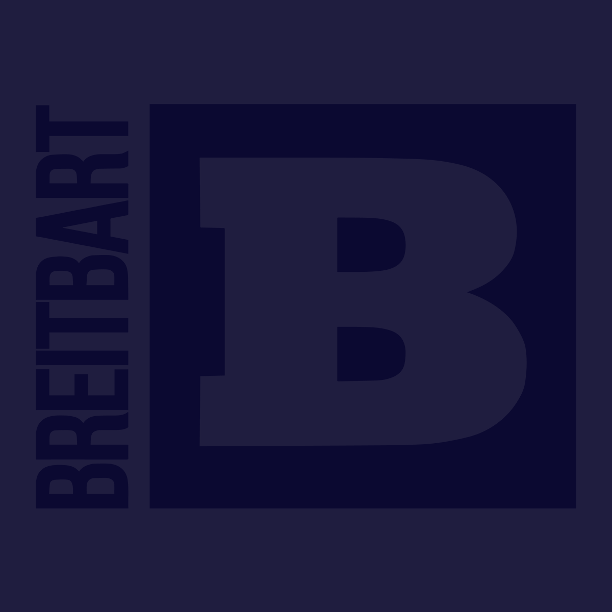 Official Breitbart Logo Women's T-Shirt - Navy
