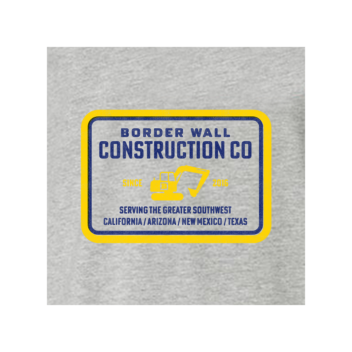 Border Wall Construction Company Long Sleeve T-Shirt - Grey