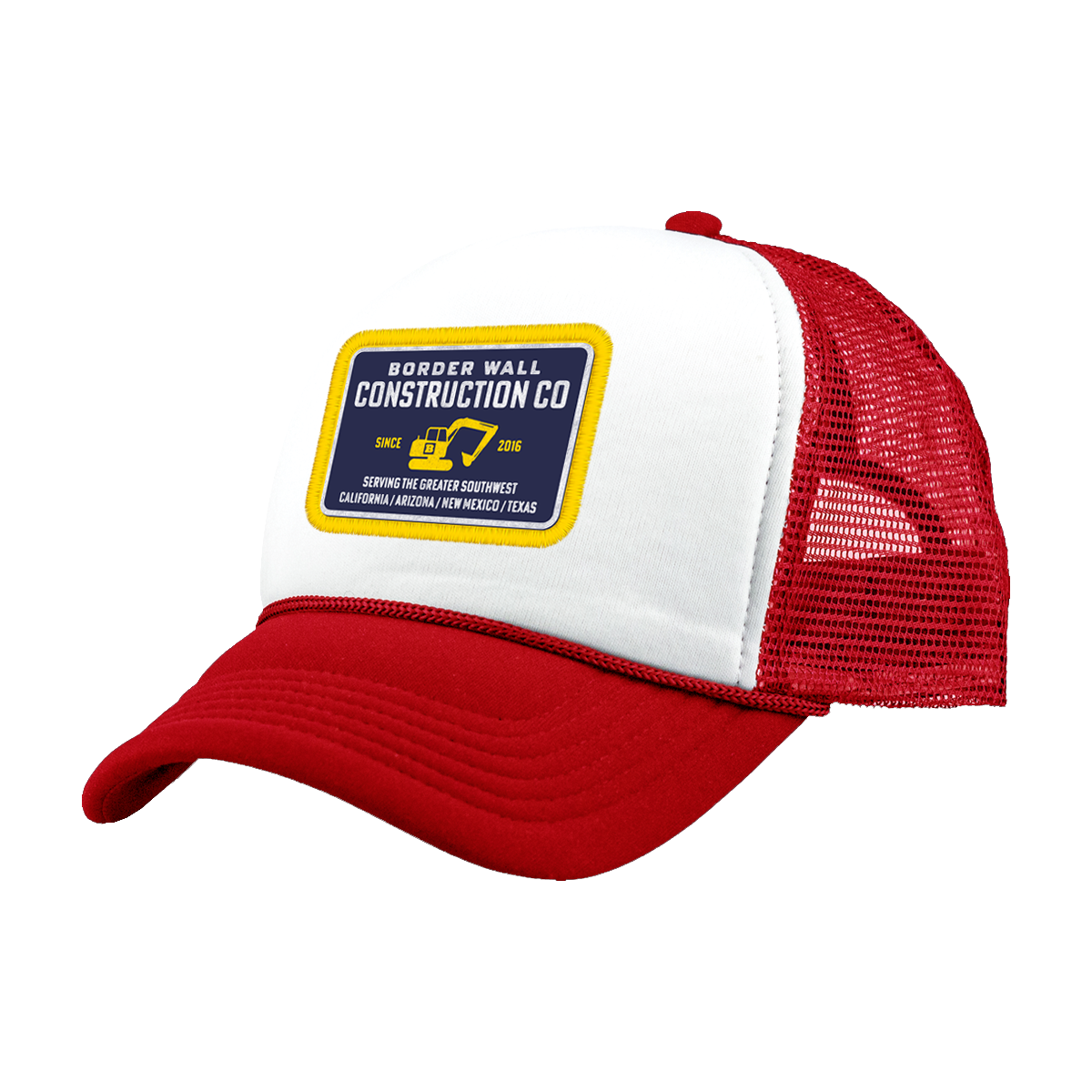 Border Wall Construction Company Hat - Red