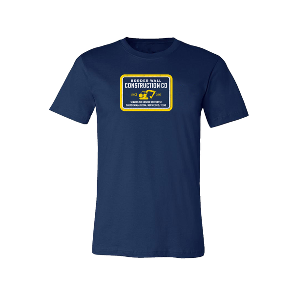 Border Wall Construction Company T-Shirt - Navy