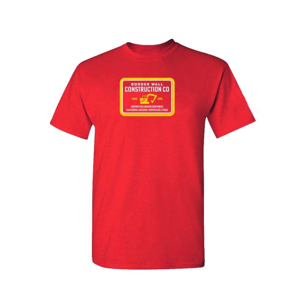 Border Wall Construction Company T-Shirt - Red
