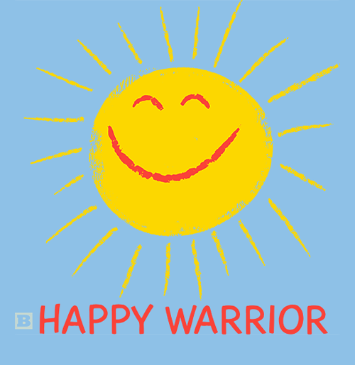 Happy Warrior Sticker - Set of 2