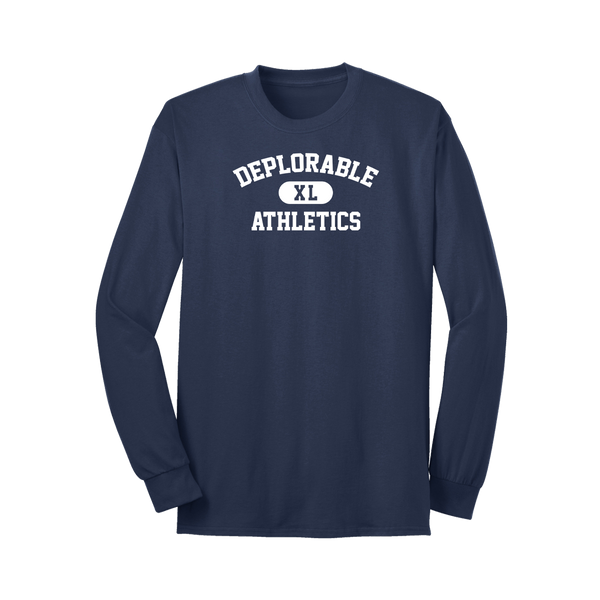 Deplorable Athletics Long Sleeve T-Shirt - Navy