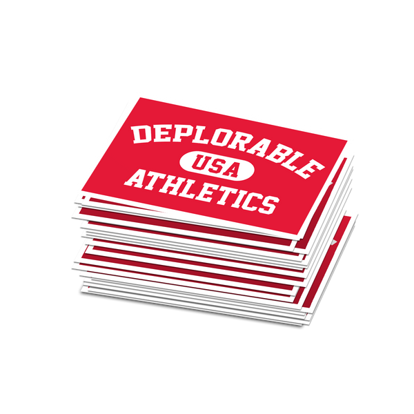 Deplorable Athletics Sticker - Set of 2