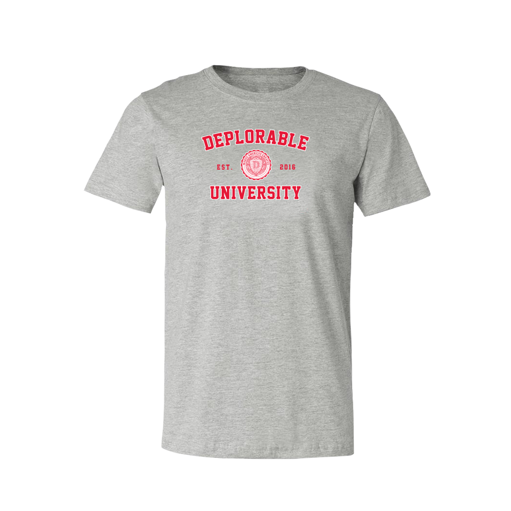 Deplorable University T-Shirt - Grey
