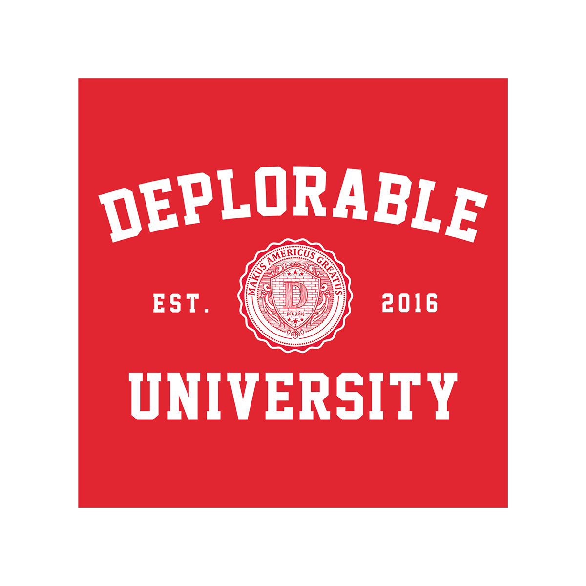 Deplorable University T-Shirt - Red