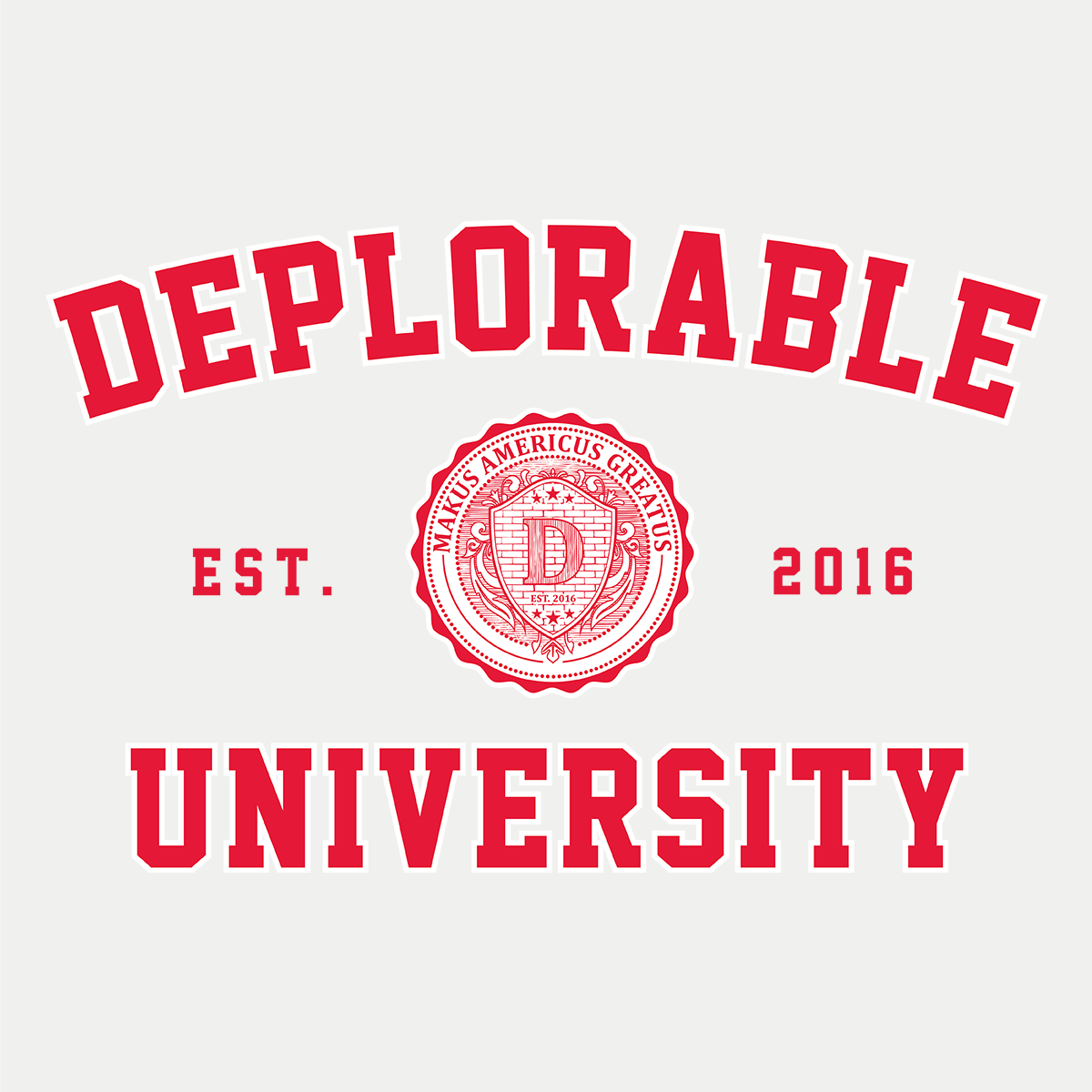 Deplorable University Sticker Set of 2
