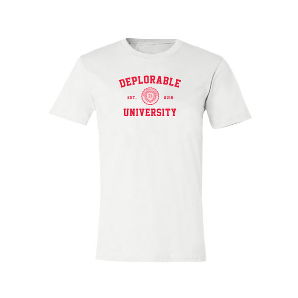 Deplorable University T-Shirt - White