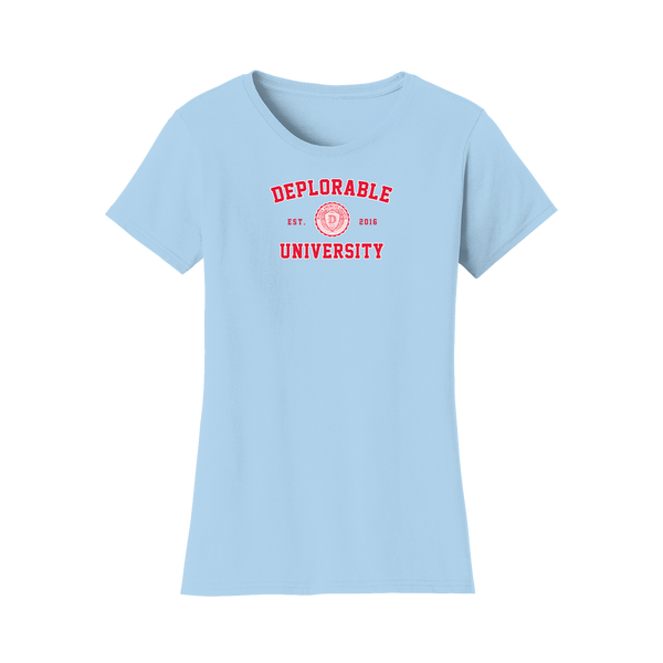 Deplorable University Women's T-Shirt - Light Blue