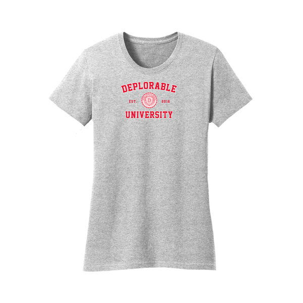 Deplorable University Women's T-Shirt - Grey