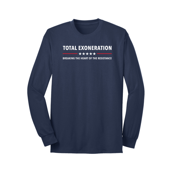 Total Exoneration Long Sleeve T-Shirt - Navy