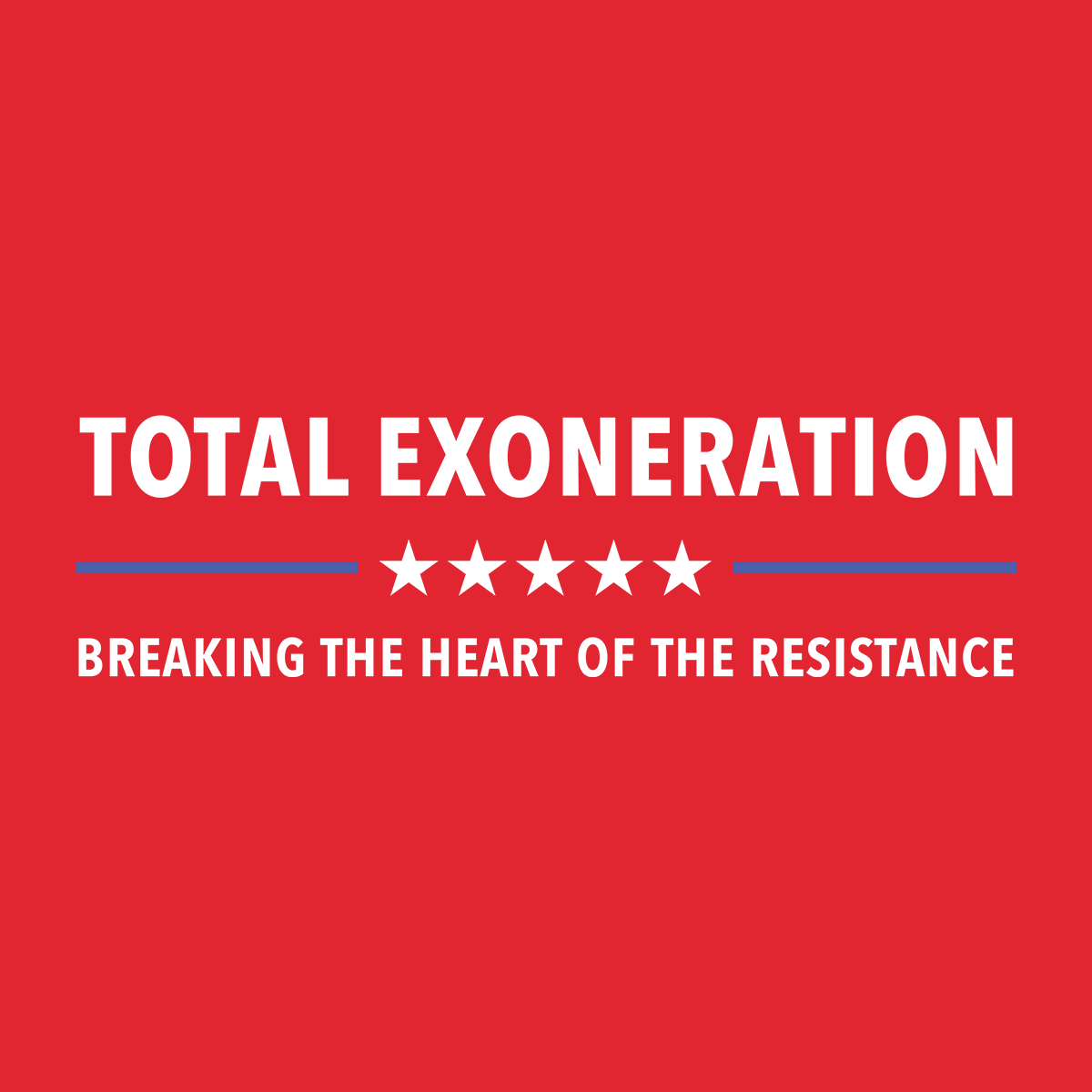 Total Exoneration T-Shirt - Red