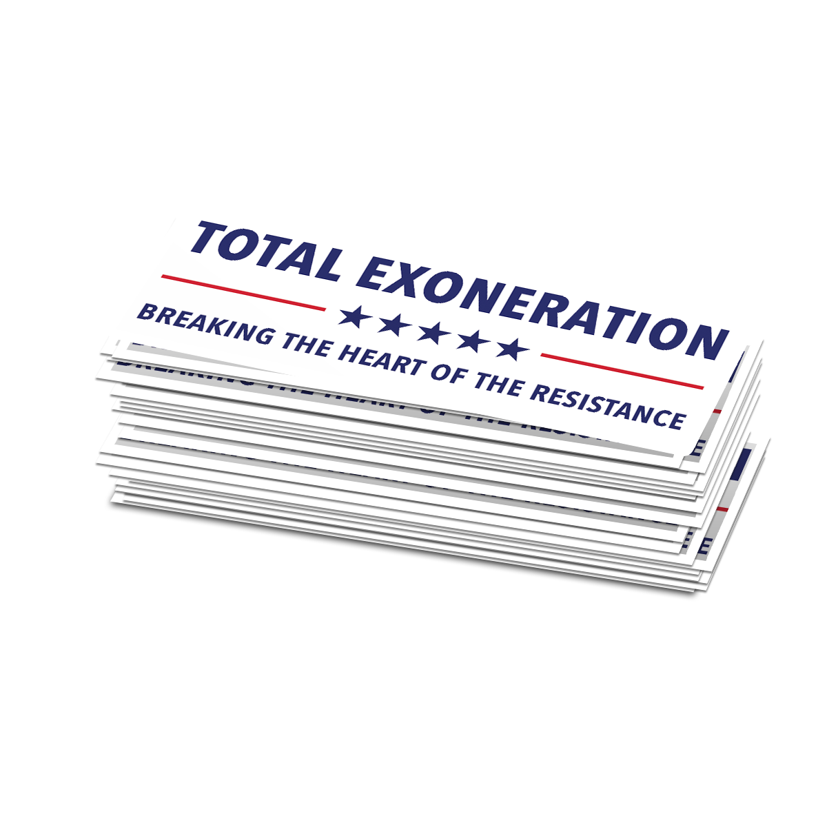 Total Exoneration Bumper Stickers - Set of 2