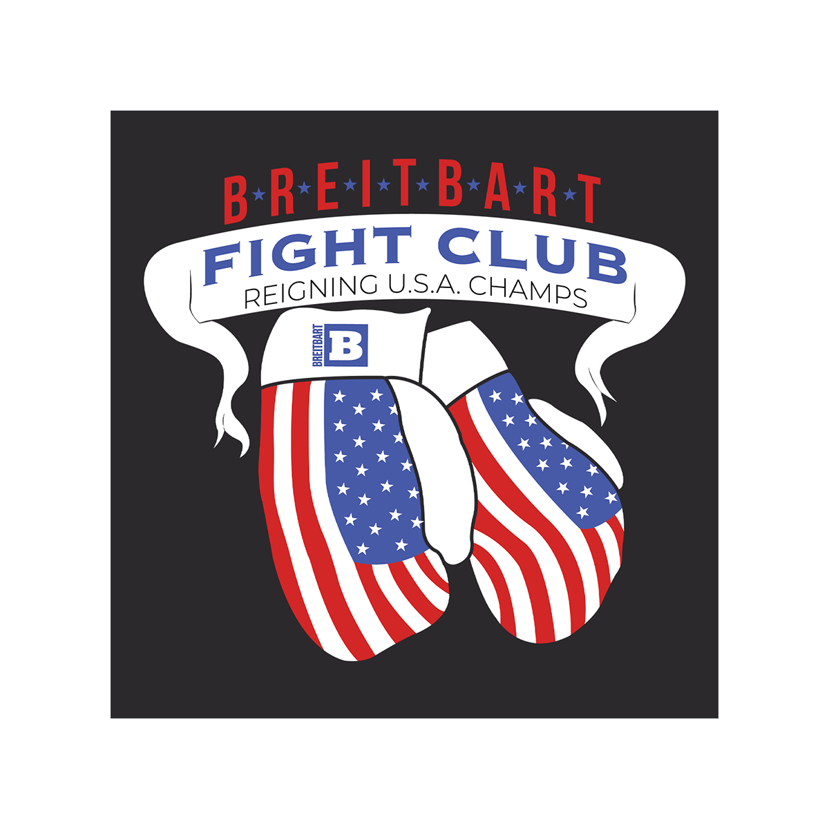 Breitbart Fight Club USA Champs T-shirt - Black