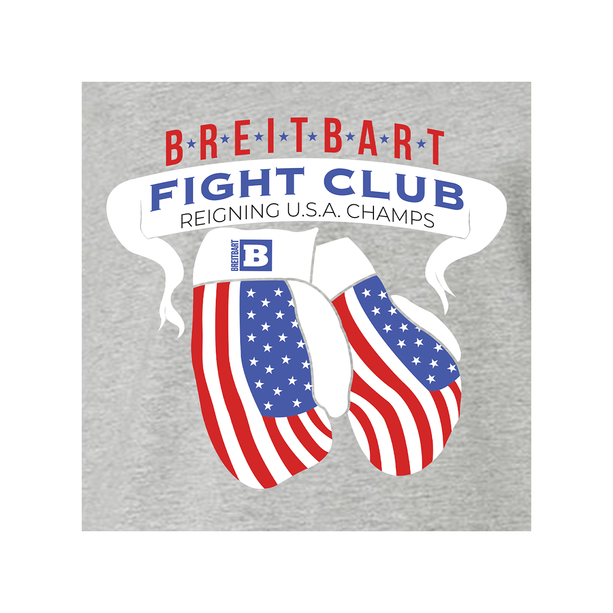 Breitbart Fight Club USA Champs T-shirt - Grey