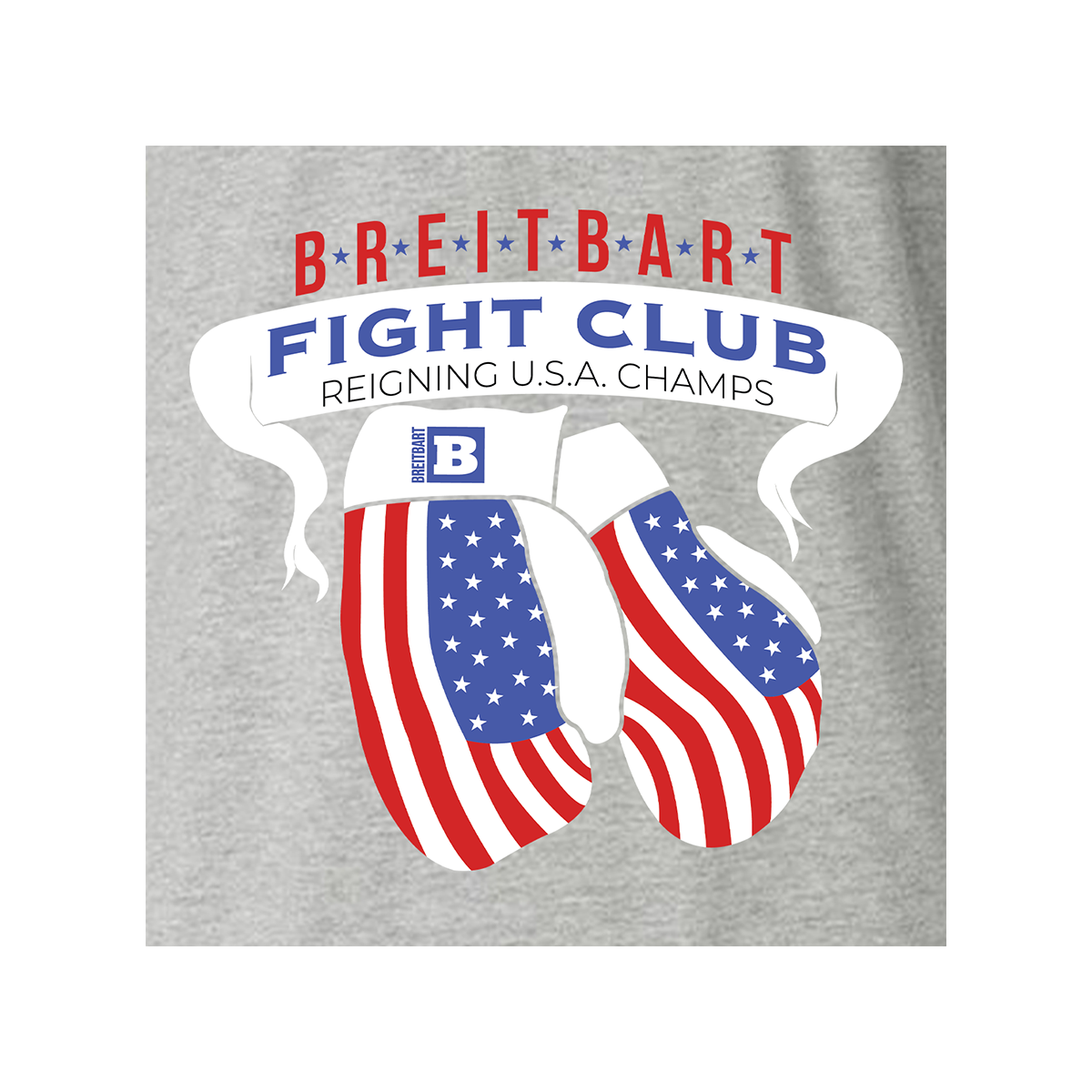Breitbart Fight Club USA Champs Women's T-shirt - Grey