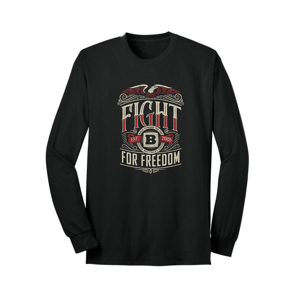 Fight For Freedom Long Sleeve T-Shirt - Black