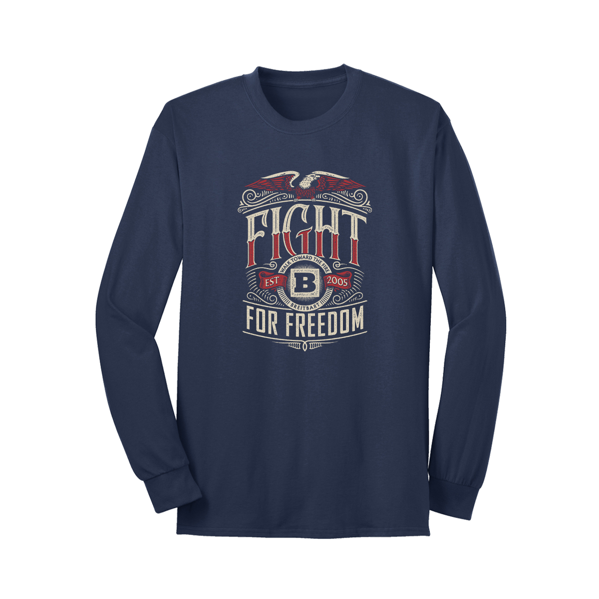 Fight For Freedom Long Sleeve T-Shirt - Navy