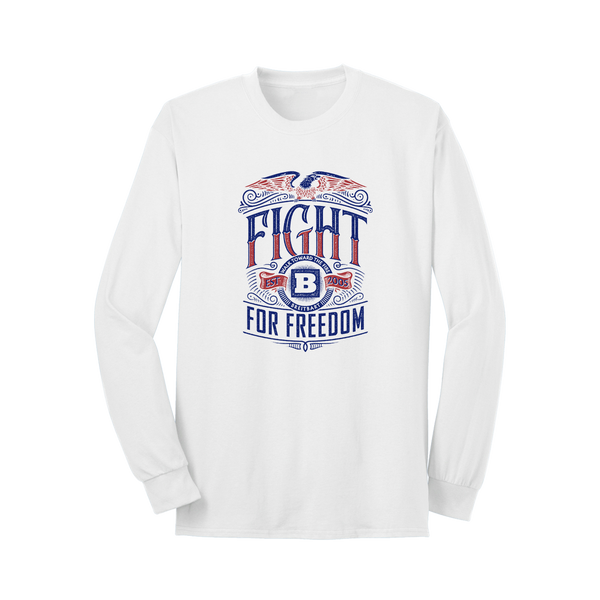 Fight For Freedom Long Sleeve T-Shirt - White