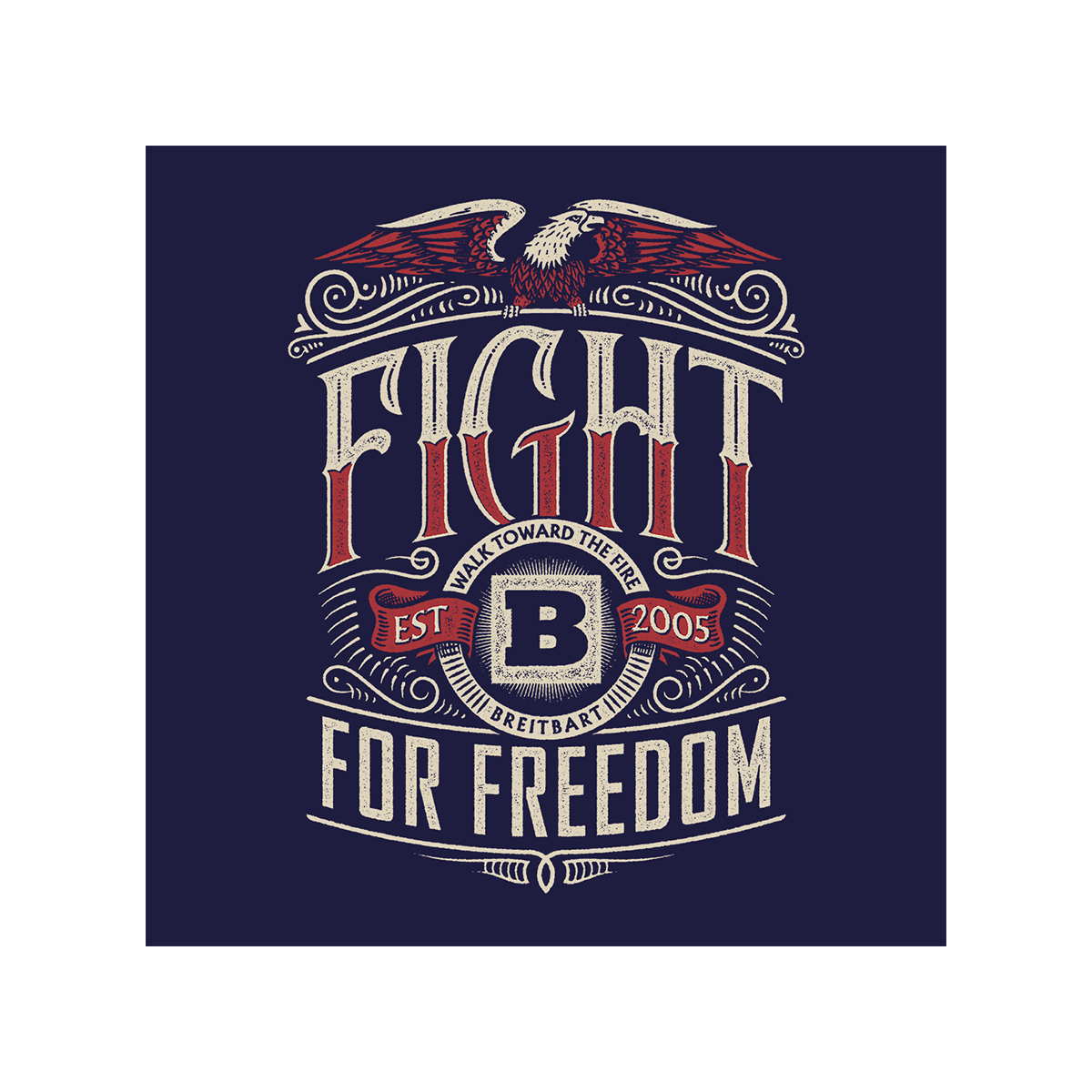 Fight for Freedom Women's T-shirt - Navy
