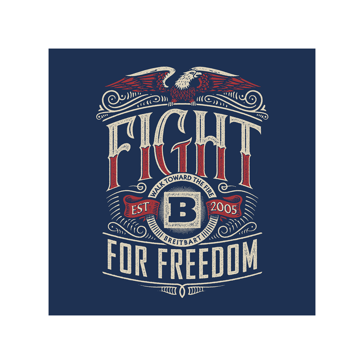 Fight For Freedom T-Shirt - Navy