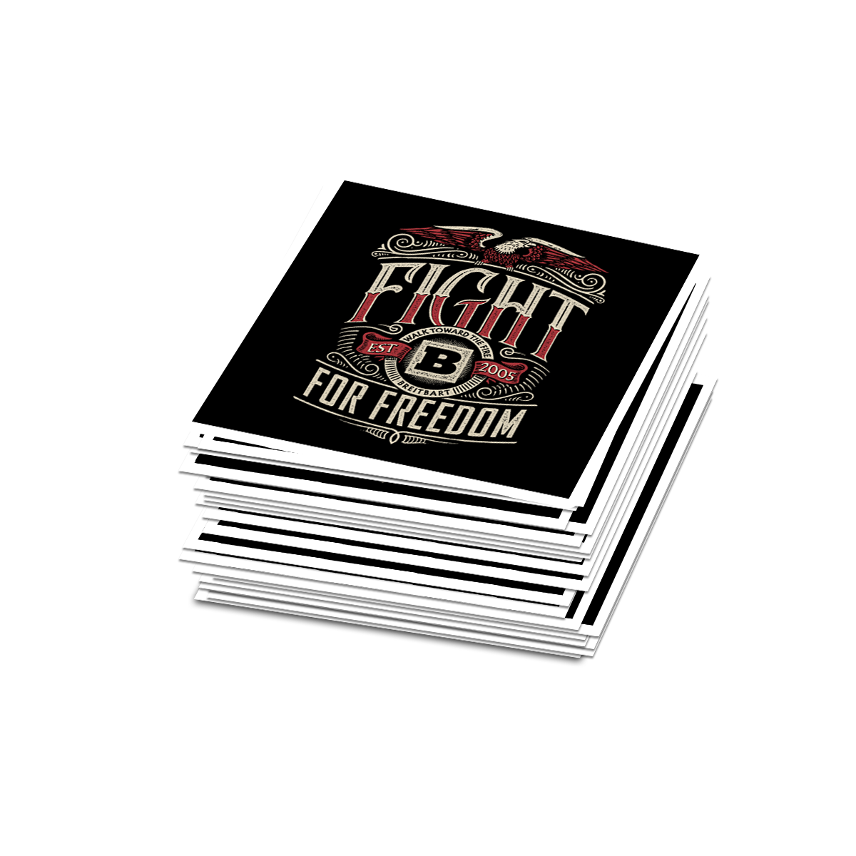 Fight for Freedom Sticker - Set of 2