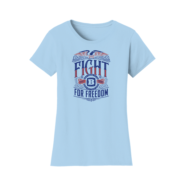 Fight for Freedom Women's T-shirt - Light Blue