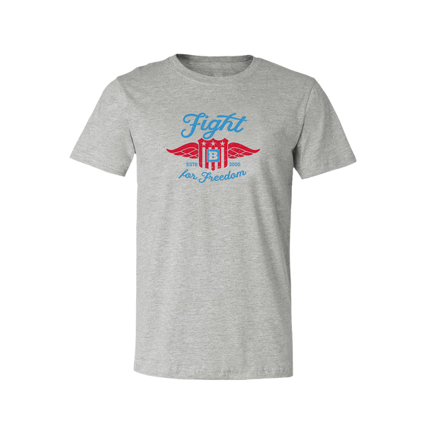 Fight for Freedom Retro T-Shirt - Grey