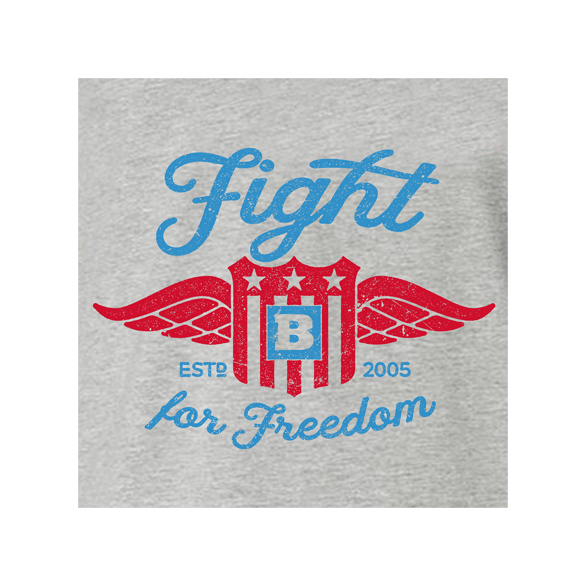 Fight For Freedom Retro Long Sleeve T-Shirt - Grey
