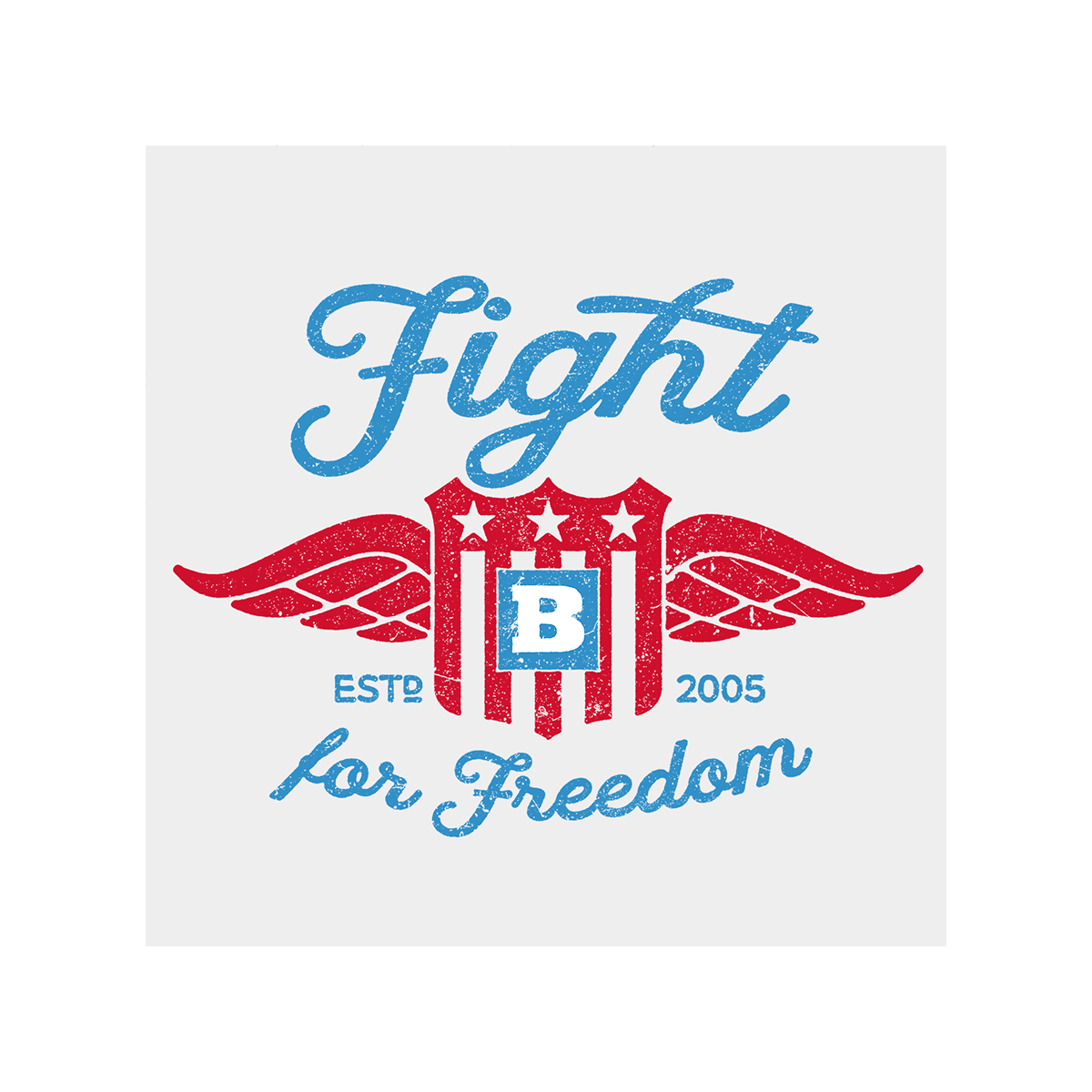 Fight For Freedom Retro Long Sleeve T-Shirt - White