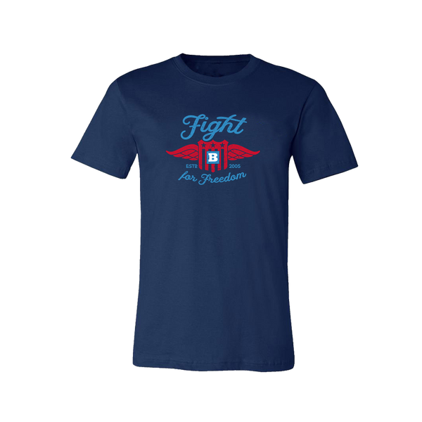 Fight for Freedom Retro T-Shirt - Navy