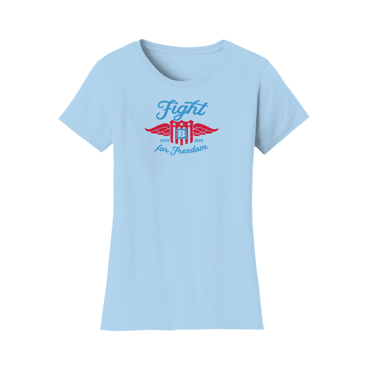 Fight For Freedom Retro Women's T-Shirt - Light Blue