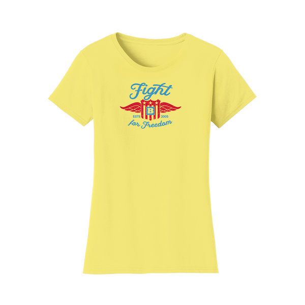 Fight For Freedom Retro Women's T-Shirt - Yellow