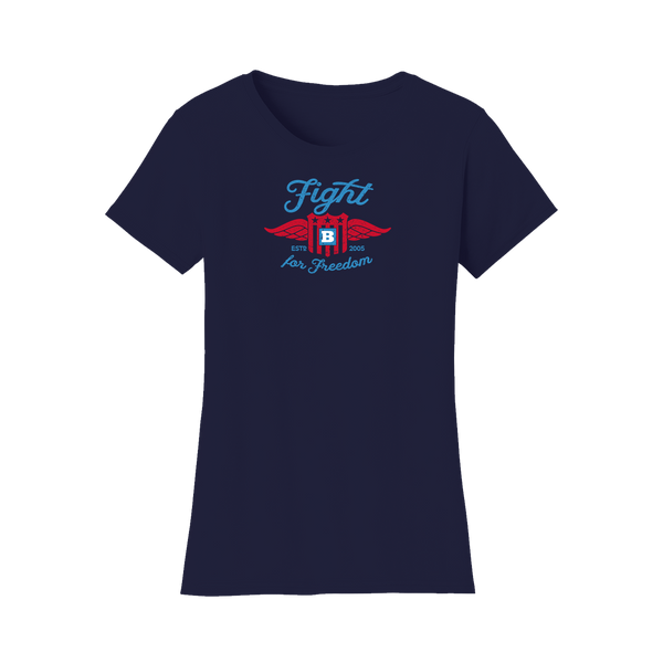 Fight For Freedom Retro Women's T-Shirt - Navy