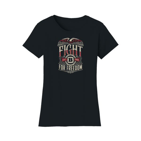 Fight for Freedom Women's T-shirt - Black