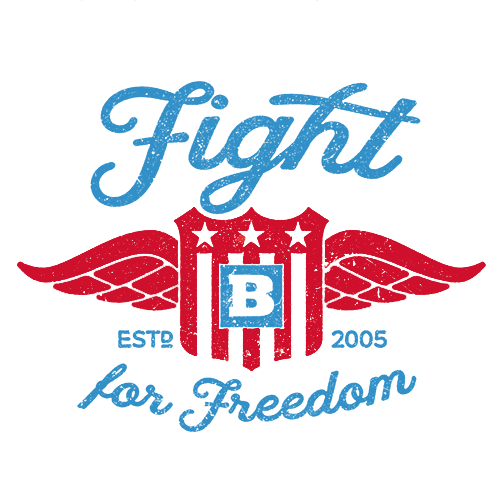Fight for Freedom Retro Sticker - Set of 2